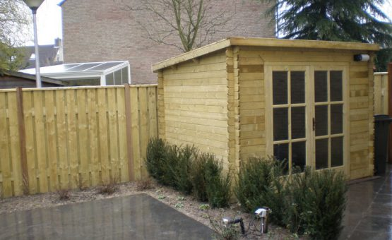 tuinhuizen met schuin dak